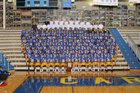 Carmel Greyhounds Boys Varsity Football Fall 18-19 team photo.