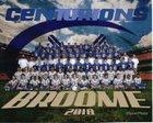 Broome Centurions Boys Varsity Football Fall 18-19 team photo.