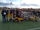 Warrensburg Burgers Boys Varsity Football Fall 18-19 team photo.