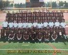 Simi Valley Pioneers Boys Varsity Football Fall 18-19 team photo.
