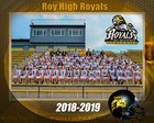 Roy Royals Boys Varsity Football Fall 18-19 team photo.