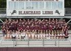 Blanchard Lions Boys Varsity Football Fall 18-19 team photo.