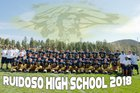 Ruidoso Warriors Boys Varsity Football Fall 18-19 team photo.