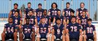 Modesto Christian Crusaders Boys Varsity Football Fall 18-19 team photo.