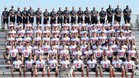 Centennial Huskies Boys Varsity Football Fall 18-19 team photo.