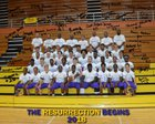 South Bend Clay Colonials Boys Varsity Football Fall 18-19 team photo.
