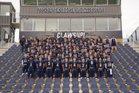 Bentonville West Wolverines Boys Varsity Football Fall 18-19 team photo.