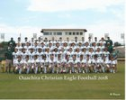 Ouachita Christian Eagles Boys Varsity Football Fall 18-19 team photo.