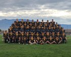Cibola Cougars Boys Varsity Football Fall 18-19 team photo.