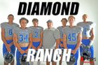 Diamond Ranch Panthers Boys Varsity Football Fall 18-19 team photo.