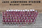 Oak Ridge Wildcats Boys Varsity Football Fall 18-19 team photo.