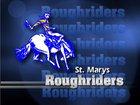 Memorial Roughriders Boys Varsity Football Fall 18-19 team photo.