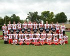 Hughes Springs Mustangs Boys Varsity Football Fall 18-19 team photo.
