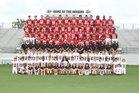 Gilbert Indians Boys Varsity Football Fall 18-19 team photo.