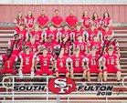 South Fulton Red Devils Boys Varsity Football Fall 18-19 team photo.
