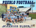Pueblo Warriors Boys Varsity Football Fall 18-19 team photo.