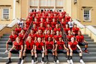 New Mexico Military Institute Colts Boys Varsity Football Fall 18-19 team photo.