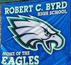 Robert C. Byrd Eagles Boys Varsity Football Fall 18-19 team photo.