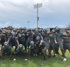 East Lee County Jaguars Boys Varsity Football Fall 18-19 team photo.