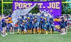 Port St. Joe Sharks Boys Varsity Football Fall 18-19 team photo.