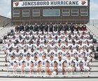 Jonesboro Hurricane Boys Varsity Football Fall 18-19 team photo.