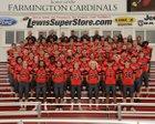 Farmington Cardinals Boys Varsity Football Fall 18-19 team photo.
