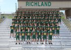 Richland Bombers Boys Varsity Football Fall 18-19 team photo.