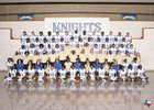 Fort Bend Elkins Knights Boys Varsity Football Fall 18-19 team photo.
