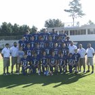 Parkers Chapel Trojans Boys Varsity Football Fall 18-19 team photo.