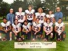 Lingle-Fort Laramie Doggers Boys Varsity Football Fall 18-19 team photo.