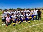 Avalon Lancers Boys Varsity Football Fall 18-19 team photo.
