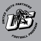 United South Panthers Boys Varsity Football Fall 18-19 team photo.