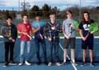 Silver Fighting Colts Boys Varsity Tennis Spring 18-19 team photo.
