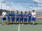 Los Lunas Tigers Boys Varsity Tennis Spring 18-19 team photo.