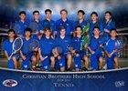 Christian Brothers Falcons Boys Varsity Tennis Spring 18-19 team photo.