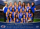 Christian Brothers Falcons Girls JV Lacrosse Spring 17-18 team photo.