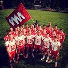 West Middlesex Big Reds Boys Varsity Football Fall 16-17 team photo.