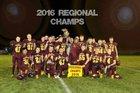 Deckerville Eagles Boys Varsity Football Fall 16-17 team photo.