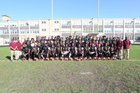 Lindblom Eagles Boys Varsity Football Fall 16-17 team photo.