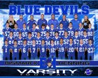 Bismarck-Henning Blue Devils Boys Varsity Football Fall 16-17 team photo.