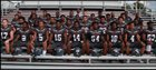 Harvest Prep Warriors Boys Varsity Football Fall 16-17 team photo.