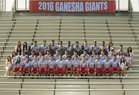 Ganesha Giants Boys Varsity Football Fall 16-17 team photo.