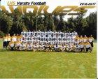 Lincolnton Wolves Boys Varsity Football Fall 16-17 team photo.