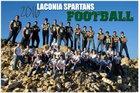 Laconia Spartans Boys Varsity Football Fall 16-17 team photo.