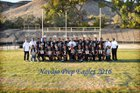 Navajo Prep Eagles Boys Varsity Football Fall 16-17 team photo.