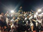 Boonton Bombers Boys Varsity Football Fall 16-17 team photo.