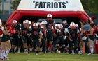Liberty Patriots Boys Varsity Football Fall 16-17 team photo.