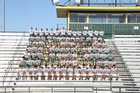 Crystal City Javelinas Boys Varsity Football Fall 16-17 team photo.