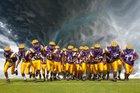 Fitzgerald Purple Hurricane Boys Varsity Football Fall 16-17 team photo.