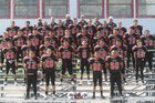 Hatch Valley Bears Boys Varsity Football Fall 16-17 team photo.